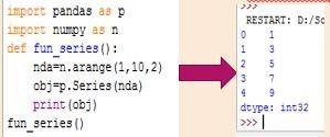 Creating Series with ndarray Data handling using Pandas-I
