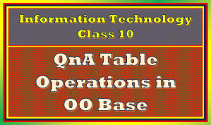 table operations in Base Class 10