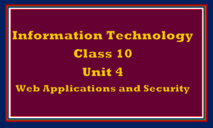 Unit 4 Web Applications and Security