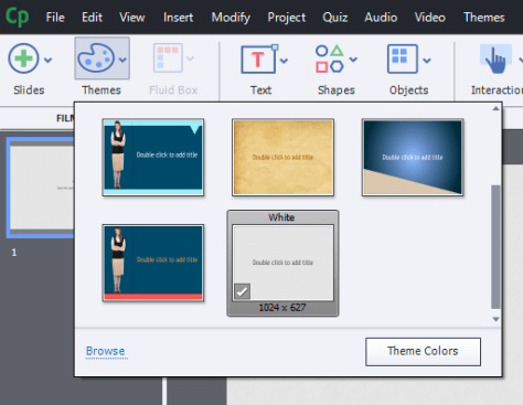 Adobe captivate Themes