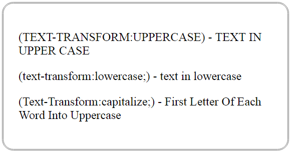 css text transform property