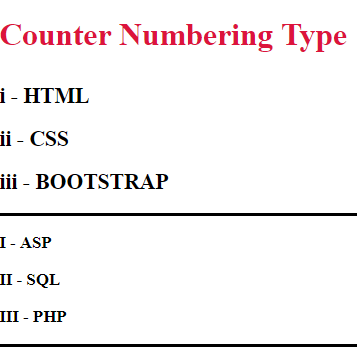 Counter Numbering Type