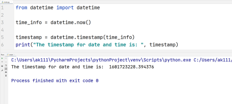 Python datetime to timestamp