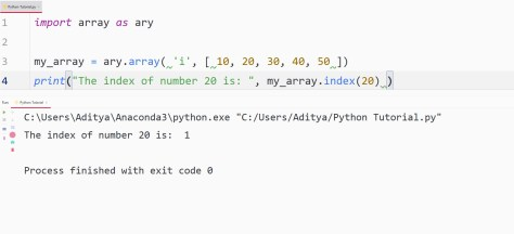 Python find element index