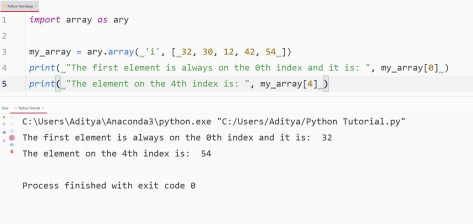 python access elements using index