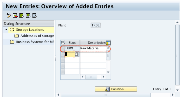 Define Storage locations in SAP