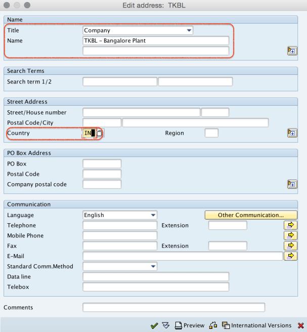Plant Address Details in SAP