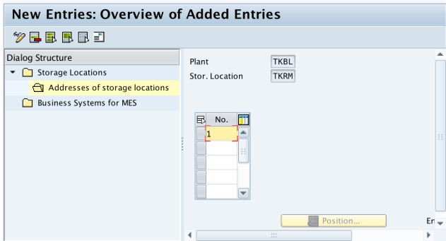 Storage Location in SAP