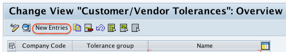 tolerance groups for vendors and customers in SAP