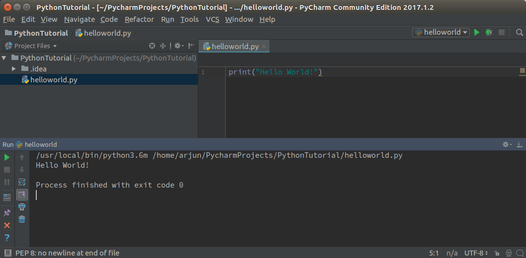 Hello World Python