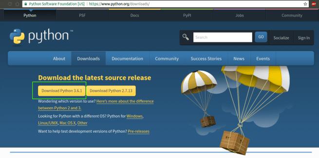 Python Download Page - Install Python - Python Environment Setup - www.tutorialkart.com