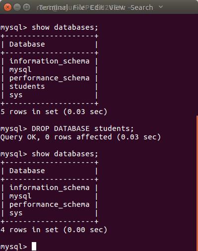 Drop or Delete a DATABASE in MySQL - MySQL Tutorial - www.tutorialkart.com