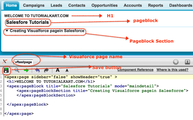 Creating visualforce page