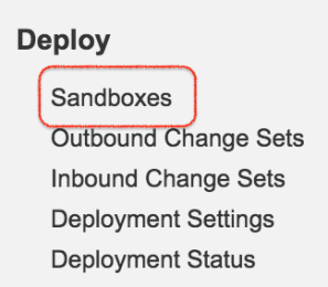 How to Create Salesforce Sandbox Template