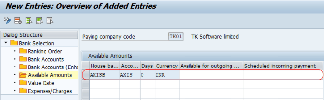 Customize Payment Program - available amounts SAP