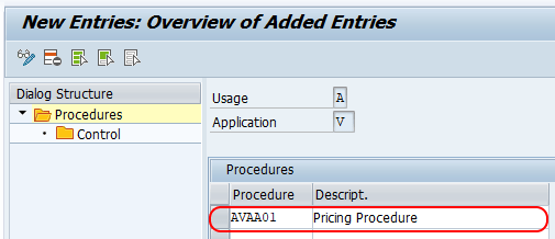 Define Pricing Procedure in SAP SD