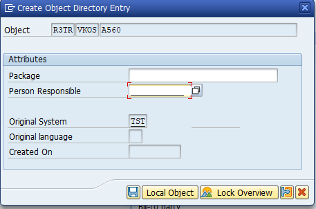Save condition table in local object.