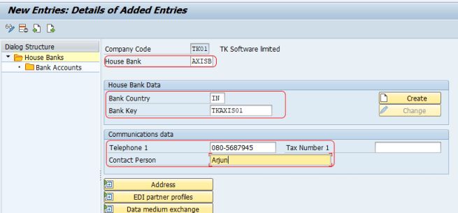 Bank Key In Sap