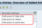 defining new credit groups in SAP SD