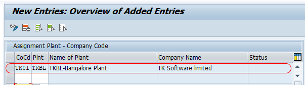 Assign Plant to Company Code