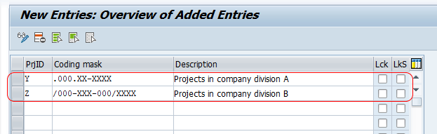 Define Project Coding Mask in SAP PS