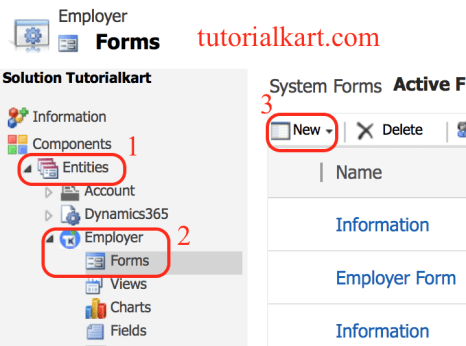 How to create Entity Forms in Dynamics 365