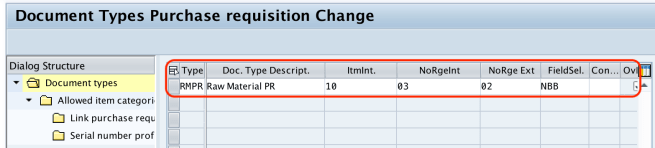 Define Document Types for Purchase Requisition in SAP