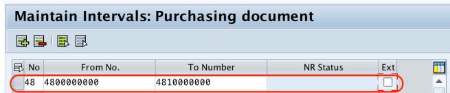 Define Number Ranges for RFQ in SAP