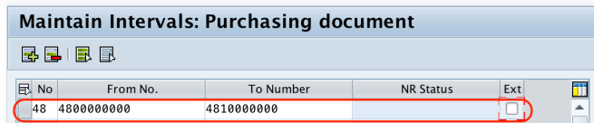 Define Number Ranges for RFQ in SAP
