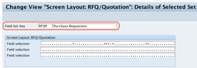 Define Screen Layout At Document Level for RFQ