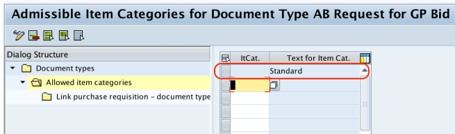 Item categories in SAP