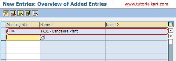 create planning plant in SAP