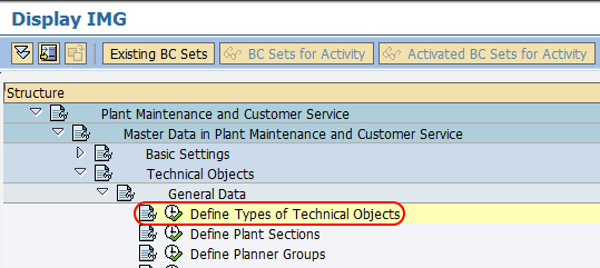 Technical object type in SAP