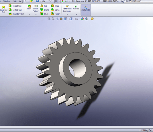 Create Spur Gear in Solidworks