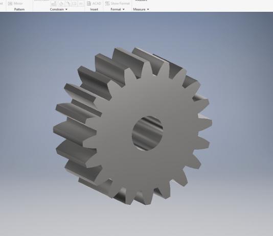 Create spur gear in autodesk inventor