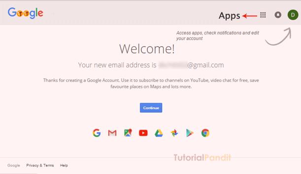 google-account-welcome-screen