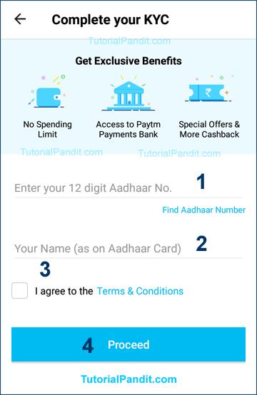 enter aadhaara no