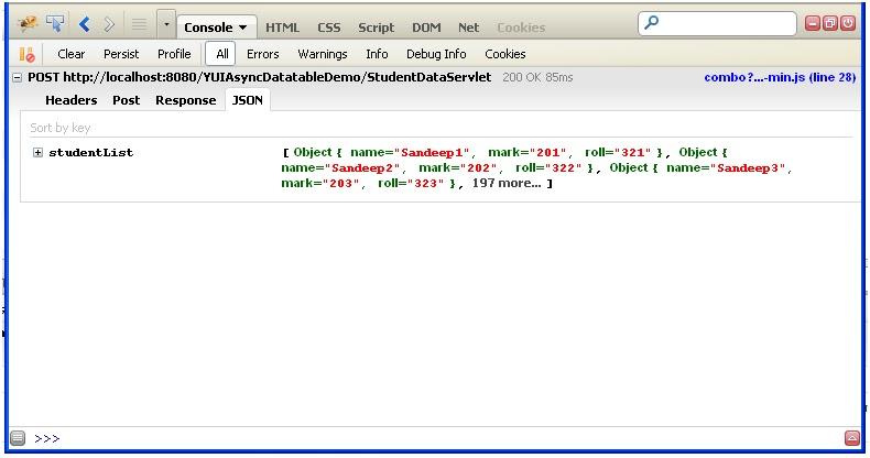 Ajax Datatable