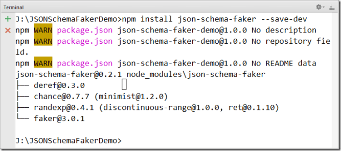 JSON Schema Faker Demo -Tutorial Savvy