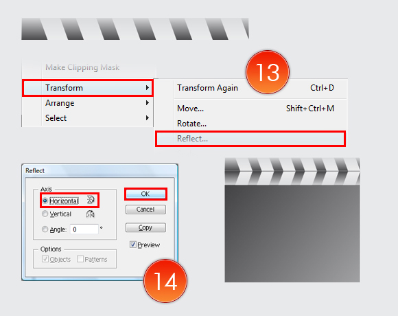Film Can, Reel and Clapper Board Vector Tutorial in Illustrator CS5 – Part II 7