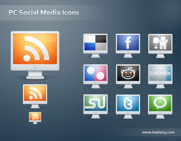 15 Free Social Media Icon Packs - Freebies 36