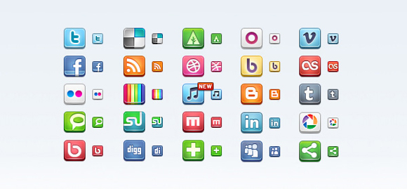 15 Free Social Media Icon Packs - Freebies 37