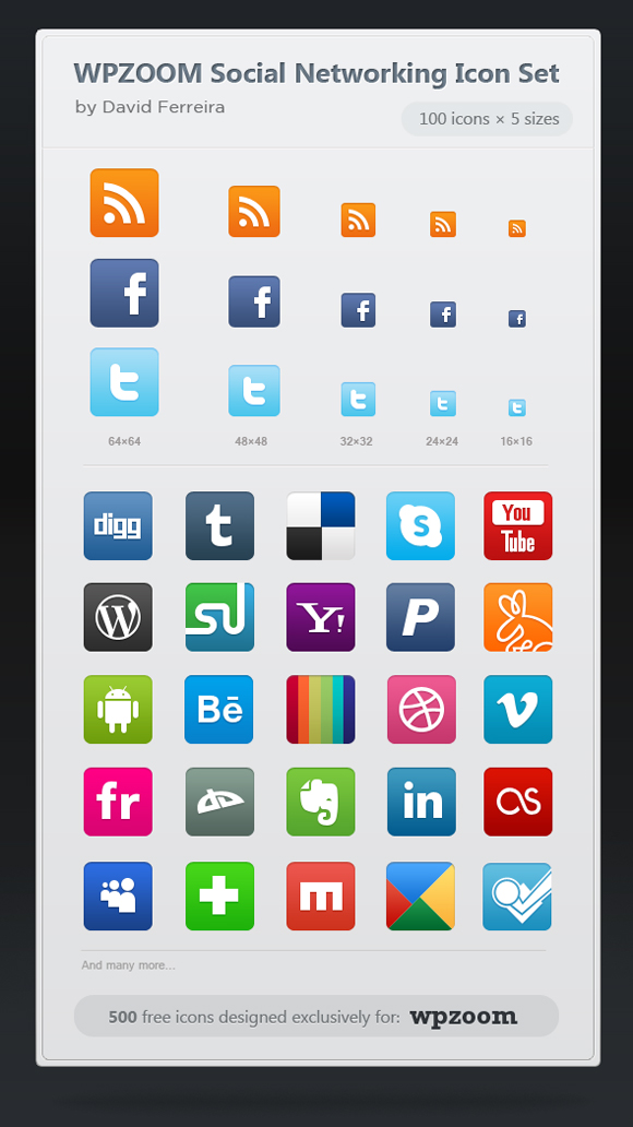 15 Free Social Media Icon Packs - Freebies 11