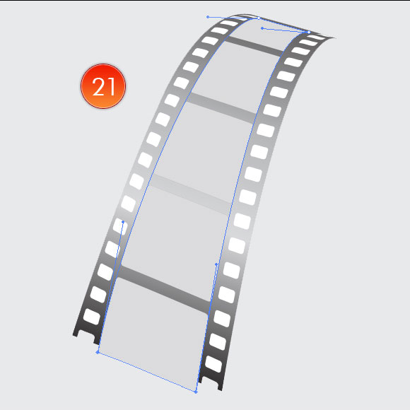 Film Can, Reel and Clapper Board Vector Tutorial in Illustrator CS5 – Part III 13
