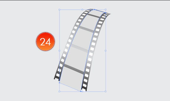 Film Can, Reel and Clapper Board Vector Tutorial in Illustrator CS5 – Part III 15