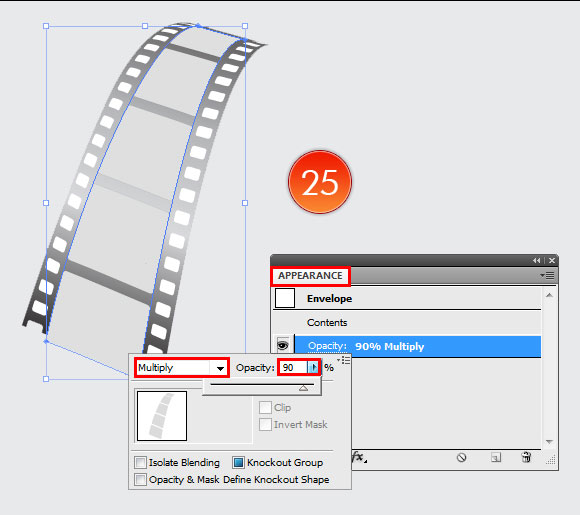 Film Can, Reel and Clapper Board Vector Tutorial in Illustrator CS5 – Part III 16