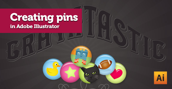 Creating pins in Adobe Illustrator CS