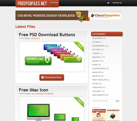 FREE PSD FILES - Free PSD resources like textures, icons, buttons, backgrounds and many many more..