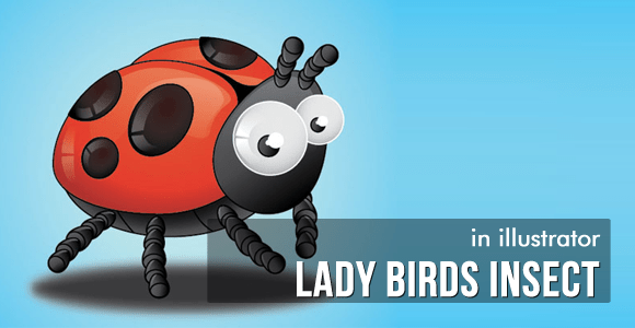Lady Birds Insect - Illustrator Tutorial