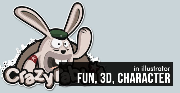 Fun, 3D, Character Logo - Illustrator Tutorial